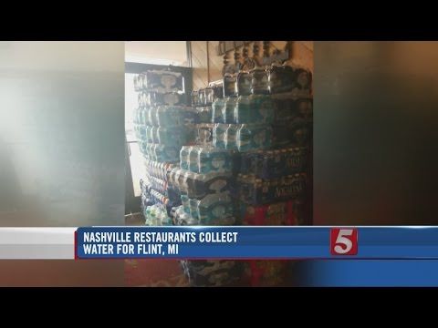 Local Restaurants Collect Water For Flint