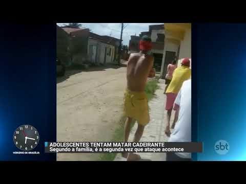 Vídeo mostra adolescentes atirando em casa de jovem cadeirante | Primeiro Impacto (10/11/17)