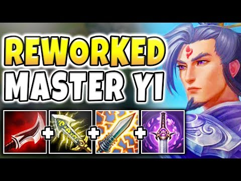 NEW MASTER YI REWORK IS WAY TOO STRONG! TRUE DAMAGE ONE-SHOTS WITH E (FULL AD) - League of Legends