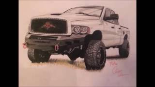 Dodge Ram time lapse drawing