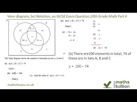 Watch And Download Igcsc Maths Set Theory Book Portion GCSE Maths
