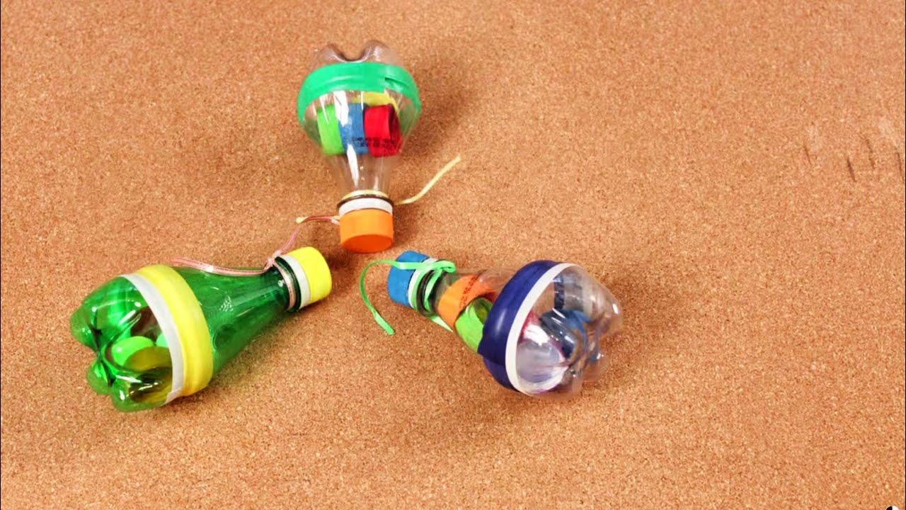Como Hacer Una Maracas Musicales Con Botellas De Plástico Juguetes Para Niños