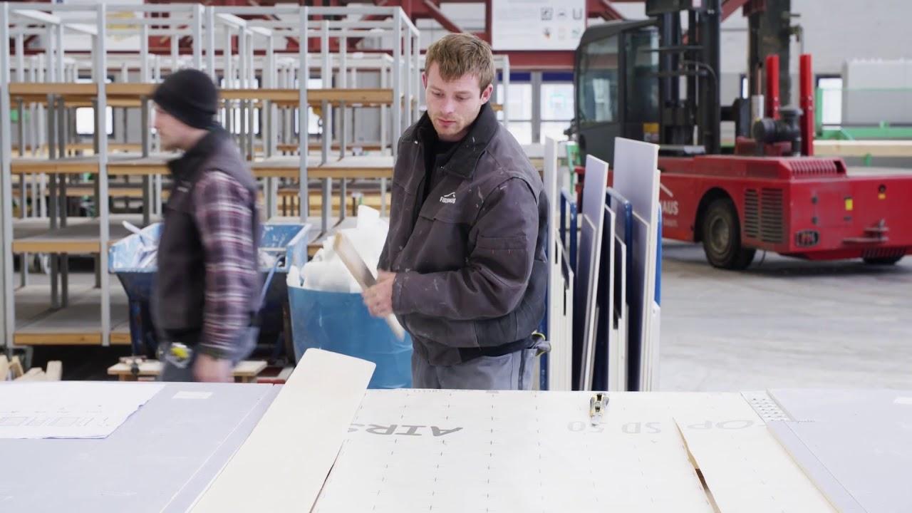 FischerHaus Produktion am Betriebsstandort Bodenwöhr