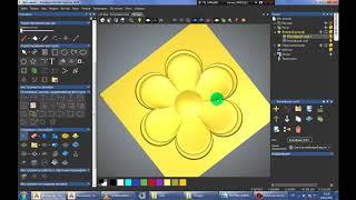 ArtCam 2018 Simple flower(Простой цветок)Sadə Çiçək