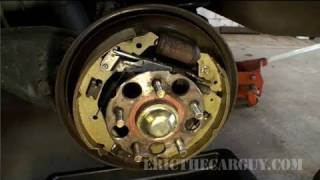 How To Replace Drum Brake Shoes, 2001 Odyssey  - Ericthecarguy