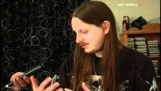 Fenriz giving an interview..
