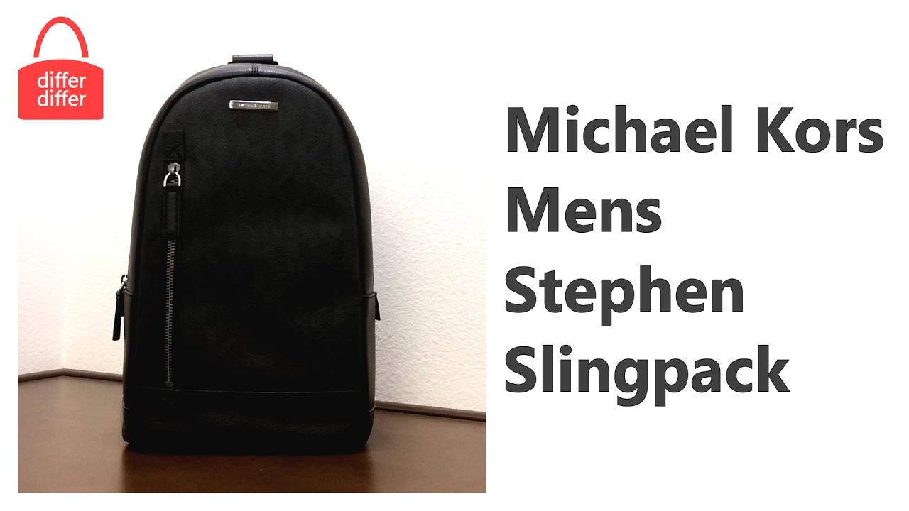 6a9ebf04c588fc Michael Kors Mens Stephen Slingpack 37H6LSPC8Z - YouTube