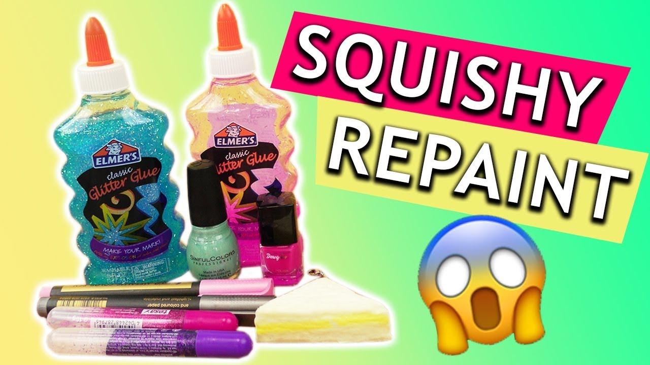 Neues Design für SQUISHY | Anhänger bemalen | DIY Repaint Experiment ...