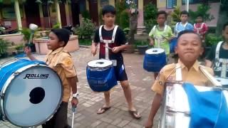Latihan drumband ..lagu anoman obong di  versi koplo