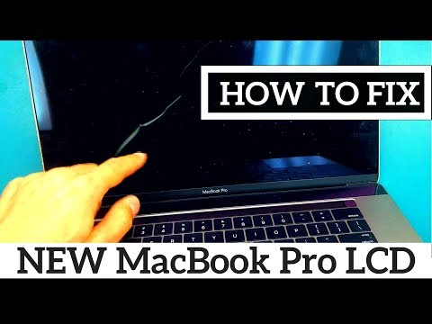 How To Fix 2016 2017 A1707 MacBook Pro with TouchBar 15 Cracked LCD Screen Panel Replacement Repair