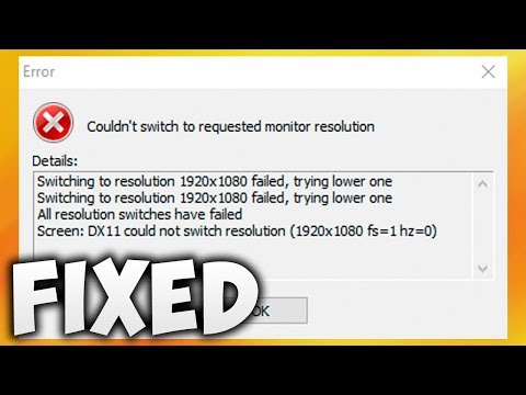 How To Fix Couldn't Switch To Requested Monitor Resolution Error (Easy Solution)