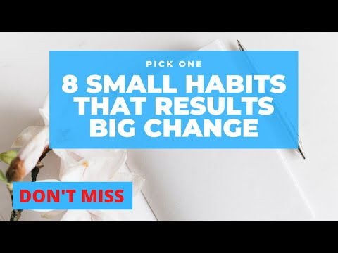 Small habits that get you to success || small habits that change your life || Small healthy habits