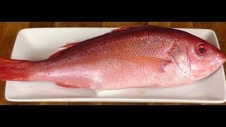 How to Butcher Red Snapper - Fillet a fish - How to tell if Fish is Fresh - Cooking Classes