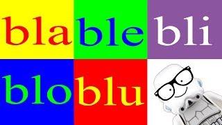 aprender a leer 40 – las sílabas bla ble bli blo blu – las letras bl canal block 6