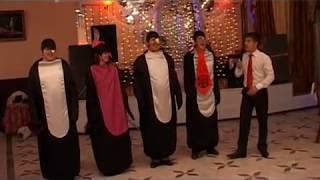 Веселый танцевальный конкурс на свадьбе, юбилее для молодежи «Пингвины». Прикольное видео №8 из 23.