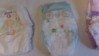 видео Японские подгузники для самых маленьких, подгузники Merries, Moony или Goo