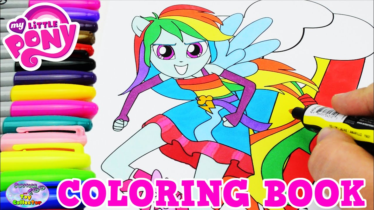 My Little Pony Coloring Book MLPEG Rainbow Dash Colors Episode Surprise Egg And Toy Collector SETC