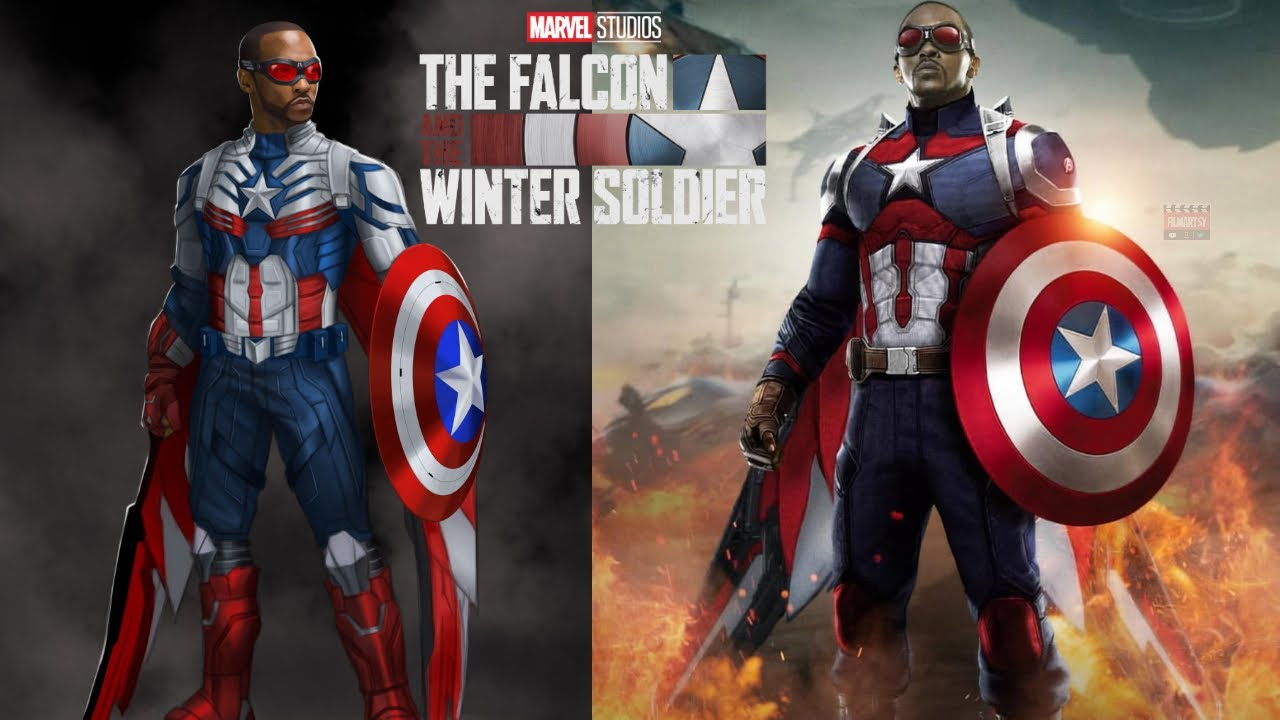 Sam Wilson's New Captain America Suit Revealed | Falcon Captain America's  New Suit Revealed | - YouTube