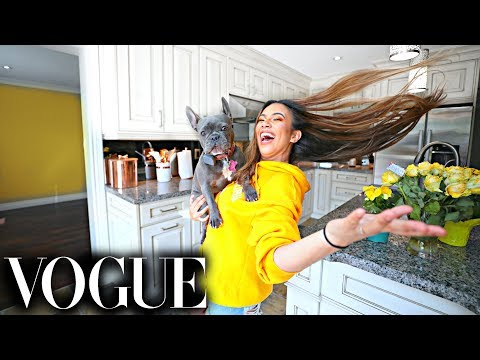 73 Questions Empty House Tour with Adelaine Morin | Vogue Parody