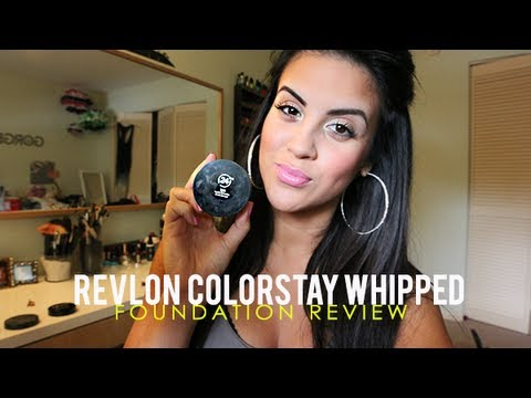 Review New Revlon Colorstay Whipped Foundation Demo Youtube