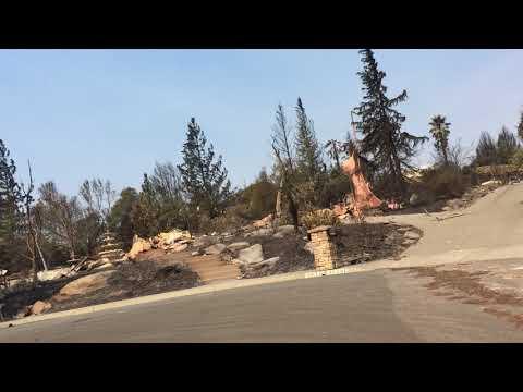 Santa Rosa Fires: Horizon View Way in Fountaingrove