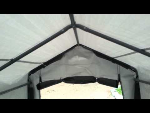 How To Assemble a Shelterlogic Garage | Doovi