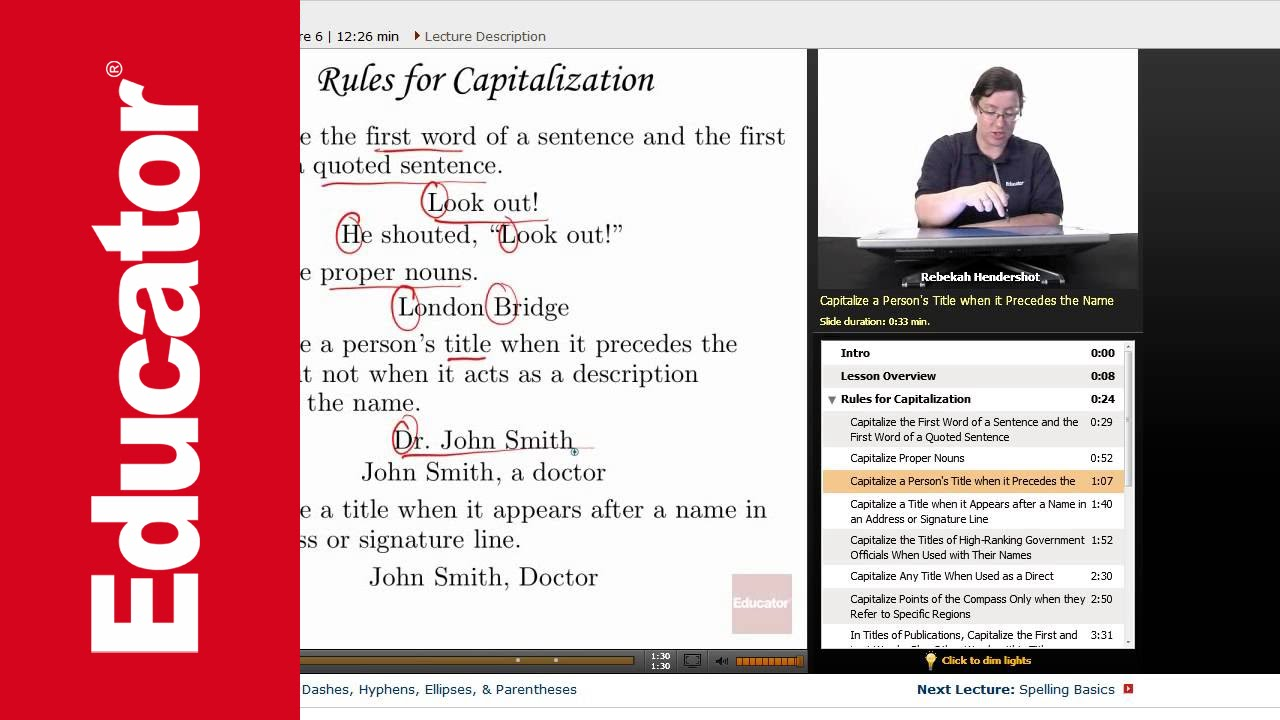 capitalization advanced english grammar with educatorcom