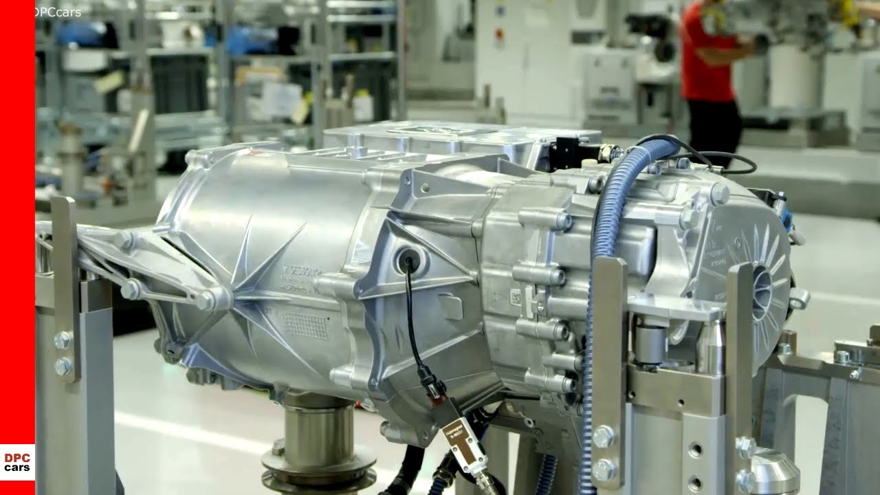 Electric Porsche Taycan Powertrain Assembly Youtube