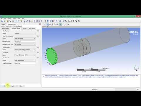 5.4 Моделирование течения воздуха в осевом вентиляторе в ANSYS CFX