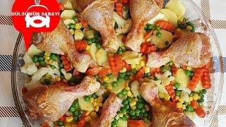 SEBZELI TAVUK INCIK / firinda sebzeli tavuk / tavuk budu / firinda tavuk / Gülsümün Sarayi