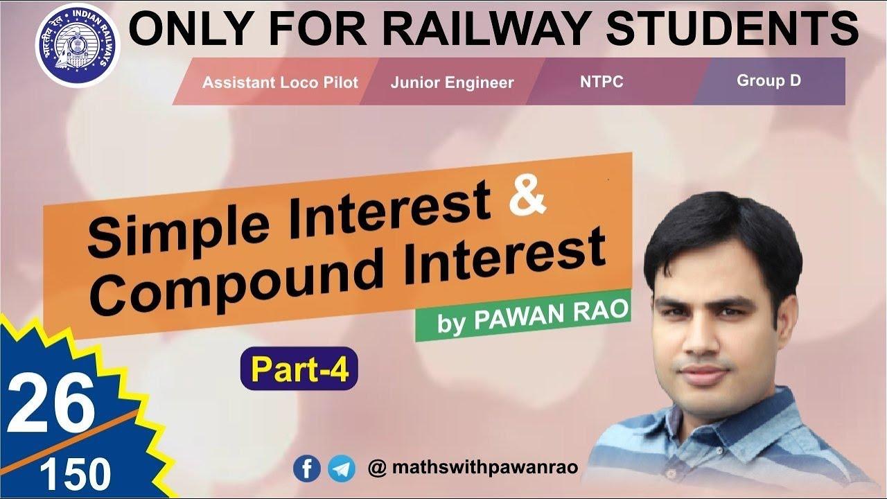 Question of Simple & Compound interest ( साधारण और चक्रवृद्धि ब्याज )| Part - 4 | By Pawan Rao