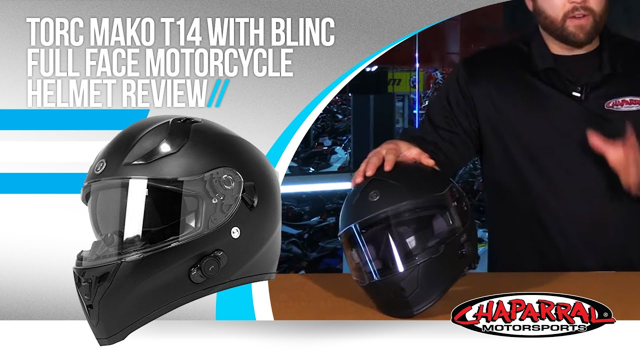 16c8547f Torc MAKO T14 With Blinc Full Face Motorcycle Helmet Review - YouTube