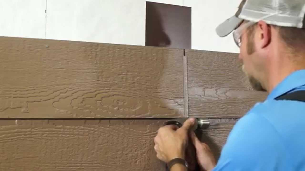Lp Smartside Lap Siding Installation Using H Molding Youtube