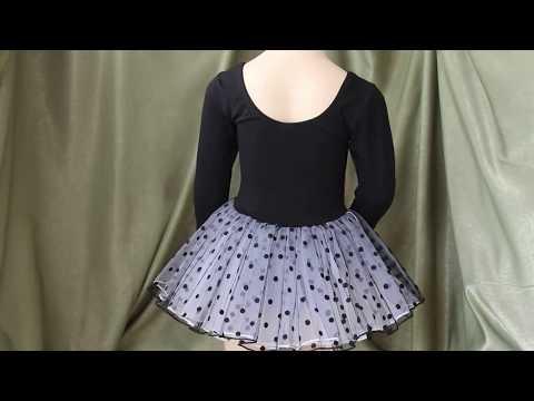 Купальник для танцев с юбкой 1099