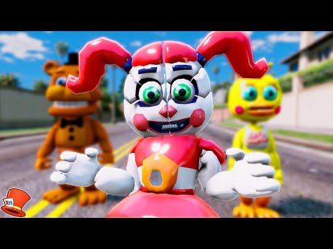 BRAND NEW ADVENTURE BABY ANIMATRONIC! (GTA 5 Mods For Kids FNAF RedHatter)