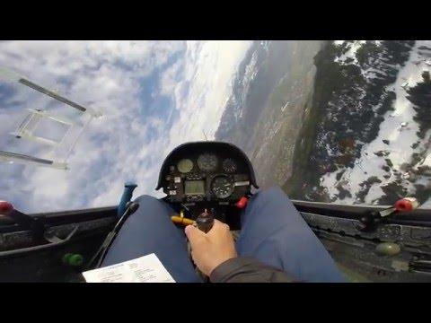 High speed flying with Sailplane LS4 in Switzerland