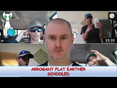 Correcting a rude and arrogant flat earther thumbnail