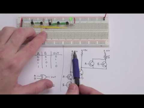 Making logic gates from transistors