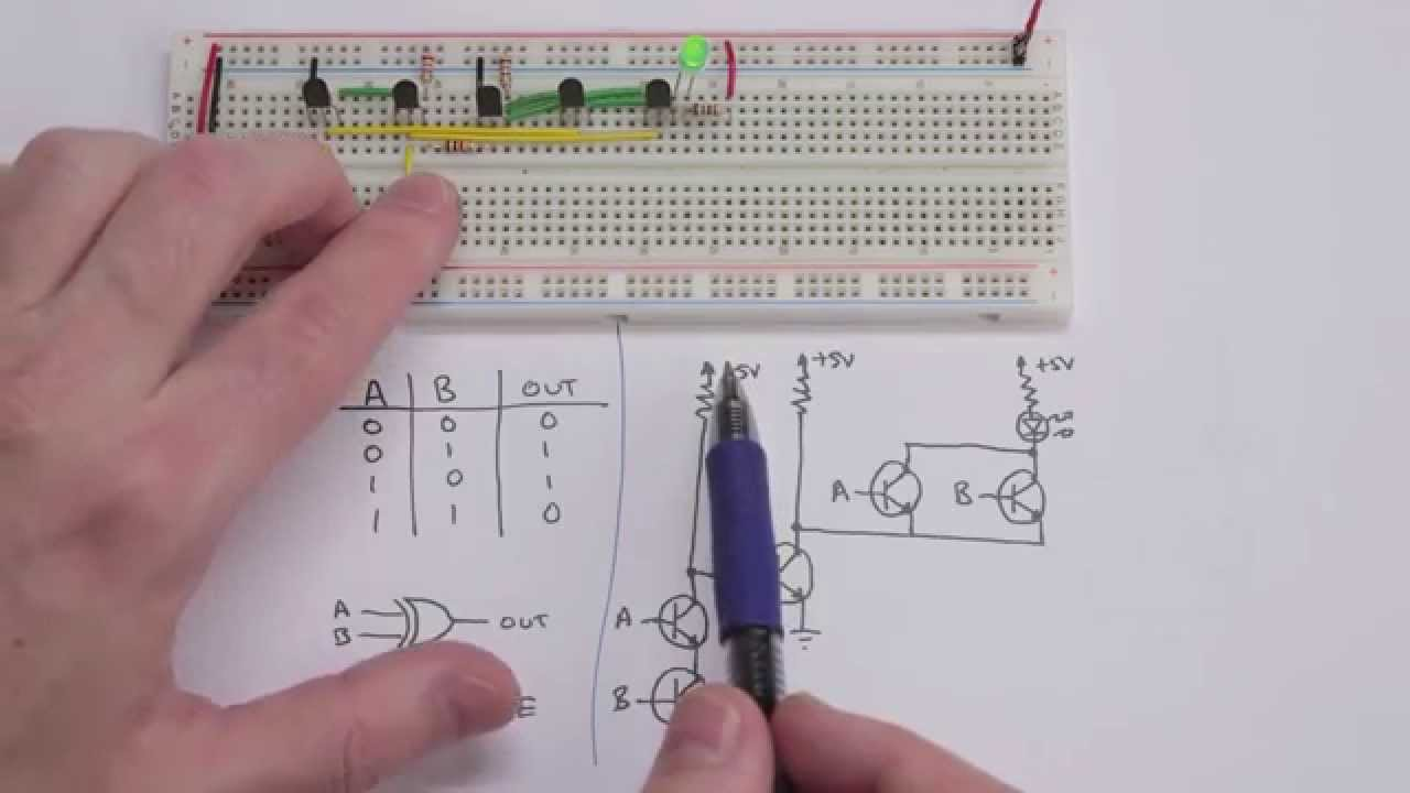 Making Logic Gates From Transistors Youtube Circuit With