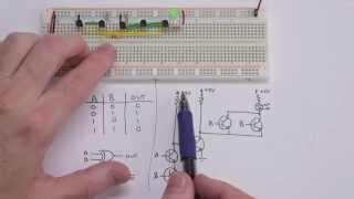 Making logic gates from transistors