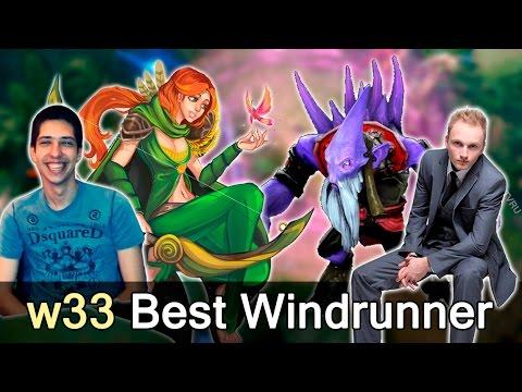 w33 best Windranger in the World vs Liquid — Shanghai Major Dota 2