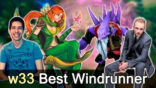 w33 best windranger in the world vs liquid — shanghai major dota 2