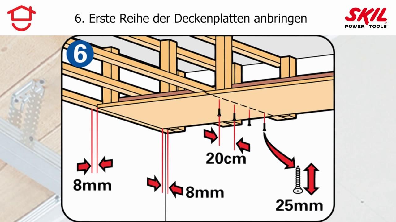 Schritt-fu00fcr-Schritt-Anleitung: selbst eine Zwischendecke einzuziehen ...