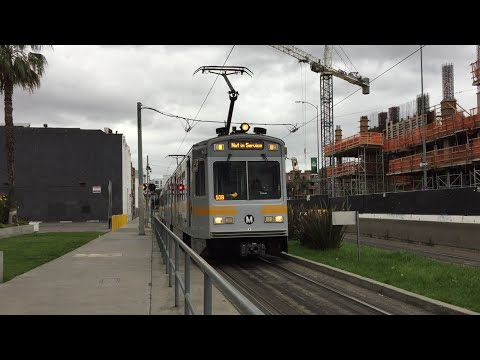 LA Metro Rail HD 60 FPS: Blue & Expo Line Trains @ Pico Station (3/11/16)