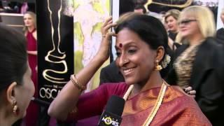 Bombay Jayashri at the Oscars 2013 red carpet