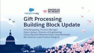 Gift Processing Building Block Update