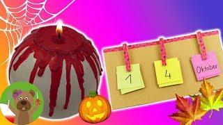 Dekoracje jesienne | świeczka z dyni | Halloween