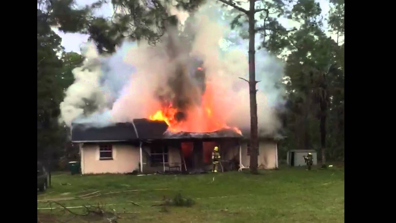 House fire in Golden Gate Estates - YouTube
