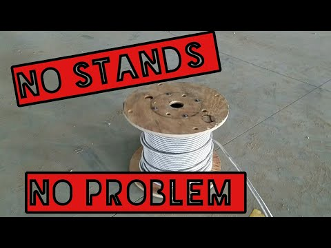 Electrician Tips and Tricks: Rolling out Wire with no Stands