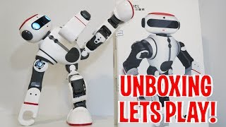 Unboxing & Let's Play - DOBI by WLtoys - Humanoid Robot Review - Intelligent Toy like Cozmo!